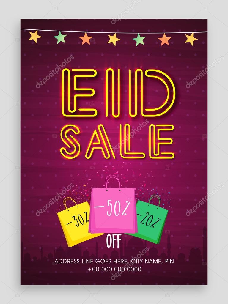 eid sale flyer or sale banner ストックベクター alliesinteract