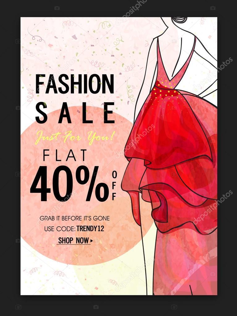 Fashion Sale Poster Banner Or Flyer Design Stock Vector C Alliesinteract 113112074