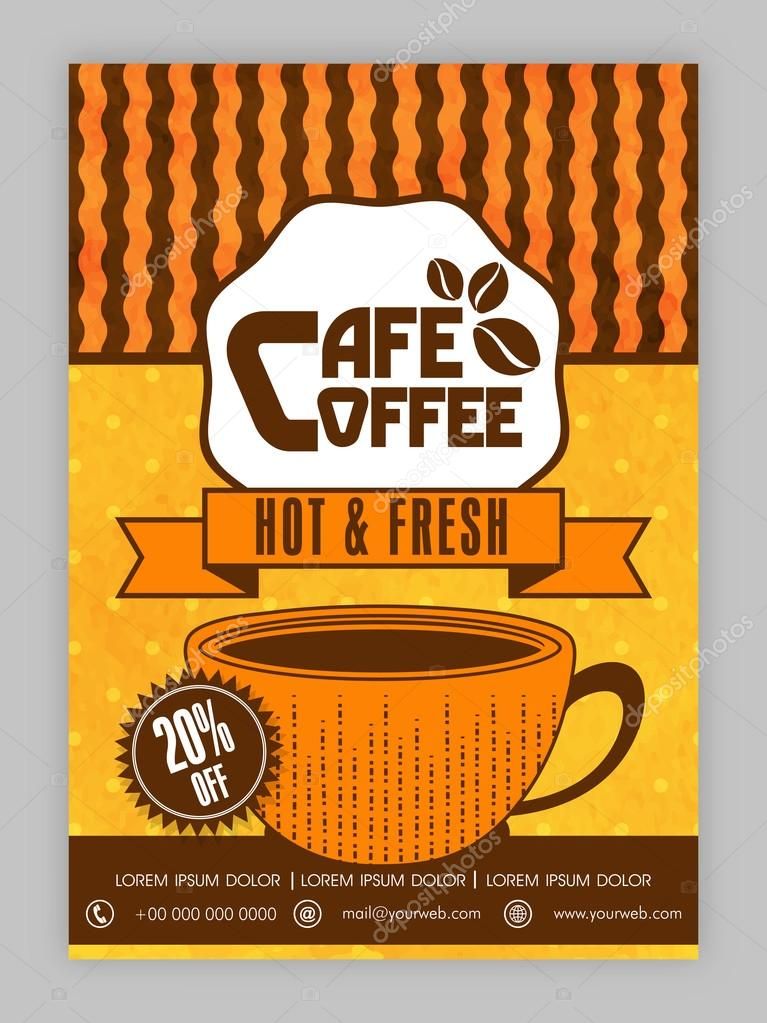 Coffee House Template, Brochure Or Flyer Design. U2014 Stock Vector