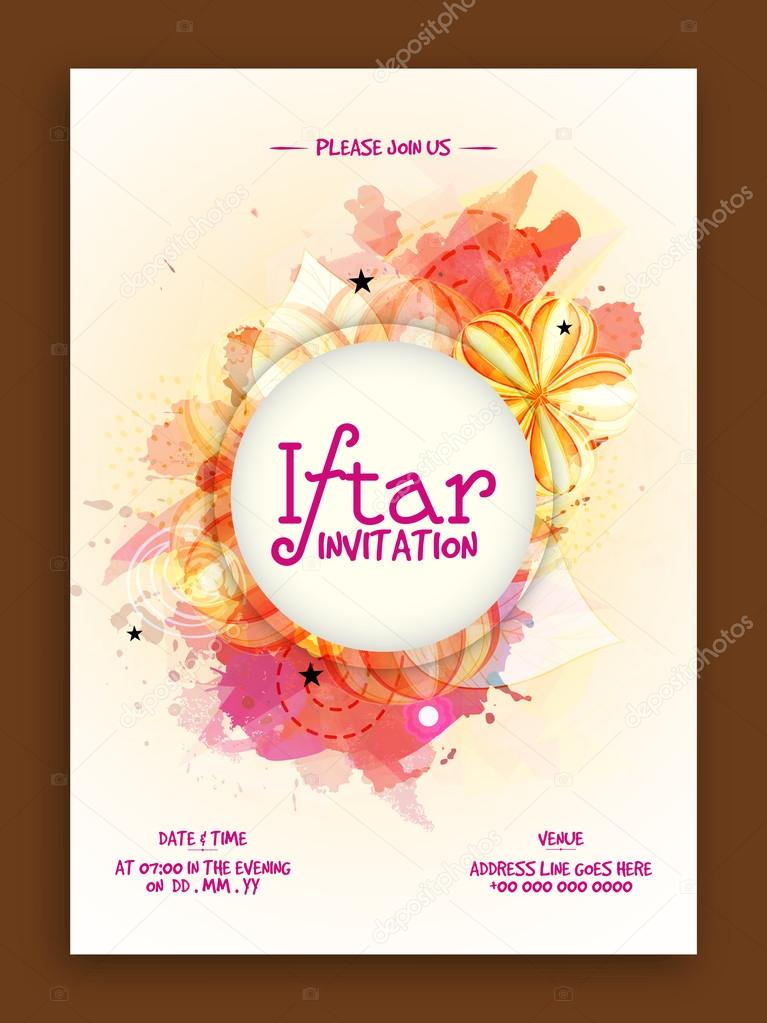 Iftar party invitation card vetores de stock alliesinteract iftar party invitation card vetores de stock stopboris Choice Image