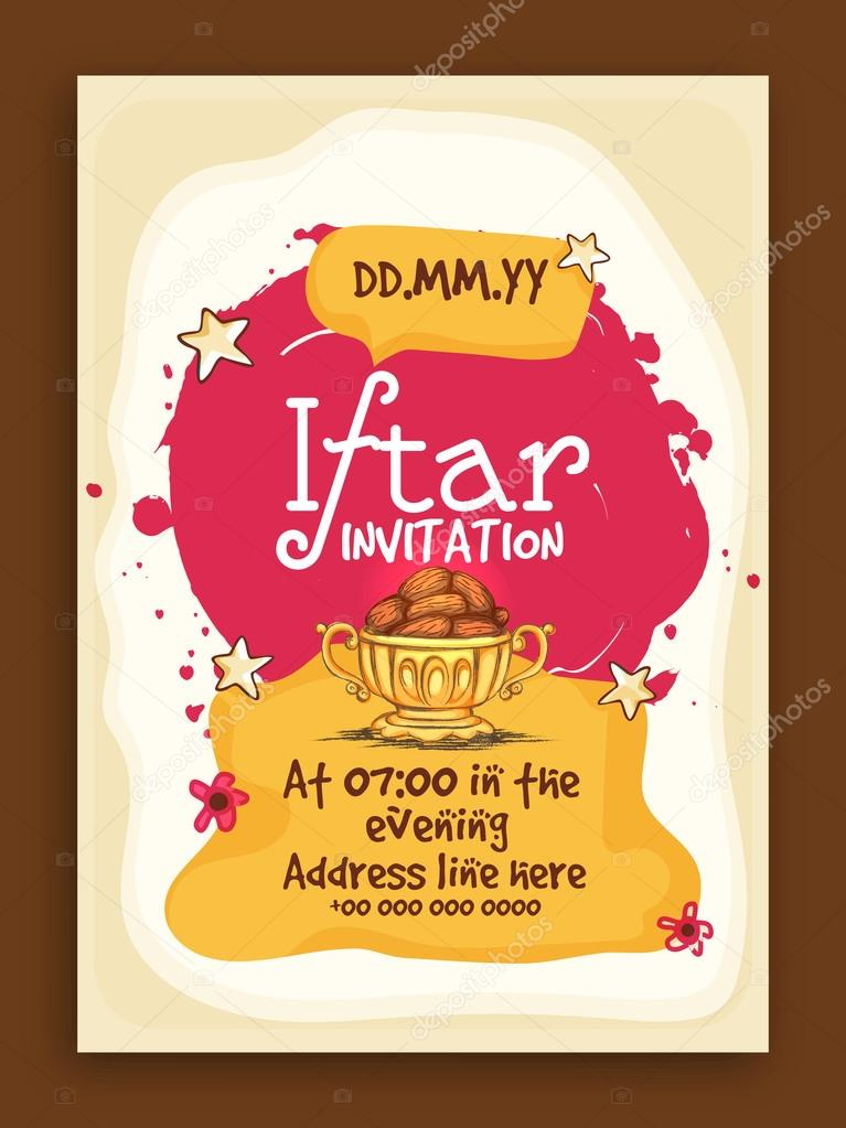 Iftar party invitation card stock vector alliesinteract 113129814 iftar party invitation card stock vector stopboris Image collections