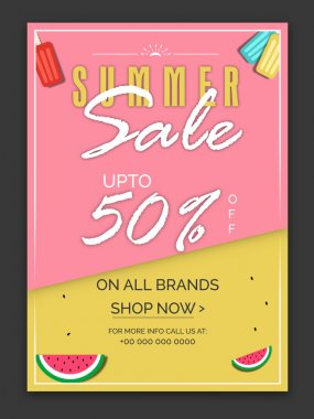 Summer Sale Poster, Banner or Flyer design.
