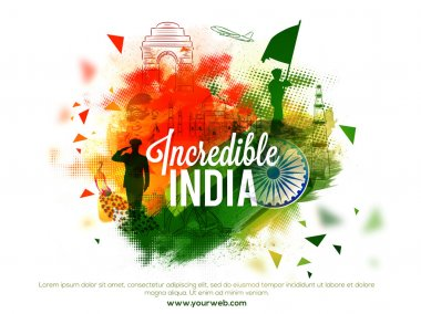 Incredible India Flyer for Indian National Festivals.