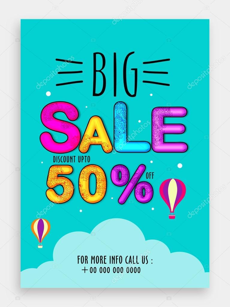 big sale template banner or flyer design ストックベクター