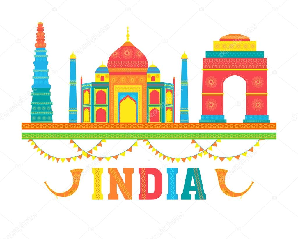 Colourful Indian Monuments for Independence Day. — Stock ...