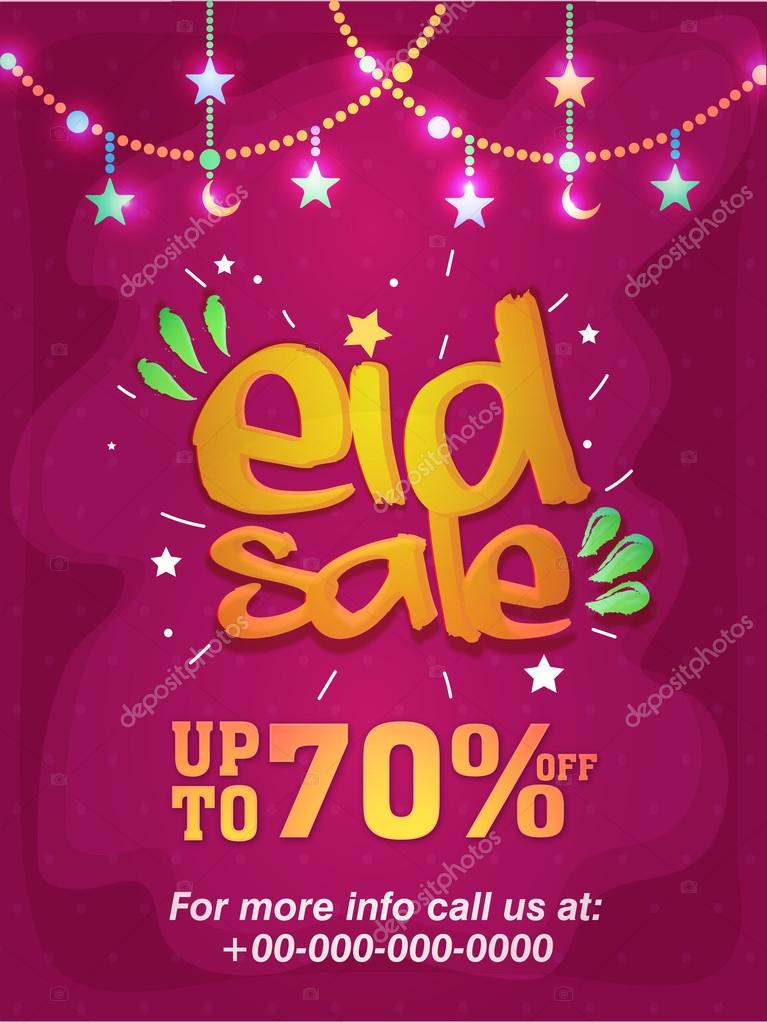 eid sale poster or sale banner ストックベクター alliesinteract
