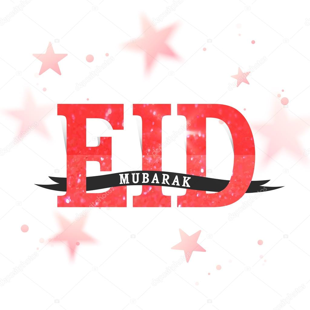 Greeting card with creative text for eid mubarak stock vector creative glittering text eid mubarak on stars decorated background elegant greeting card design for muslim community festival celebration m4hsunfo
