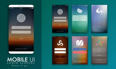 User Interface for Mobile Login Screens.