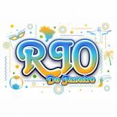 Creative plakátu, nápisu, leták Rio de Janeiro