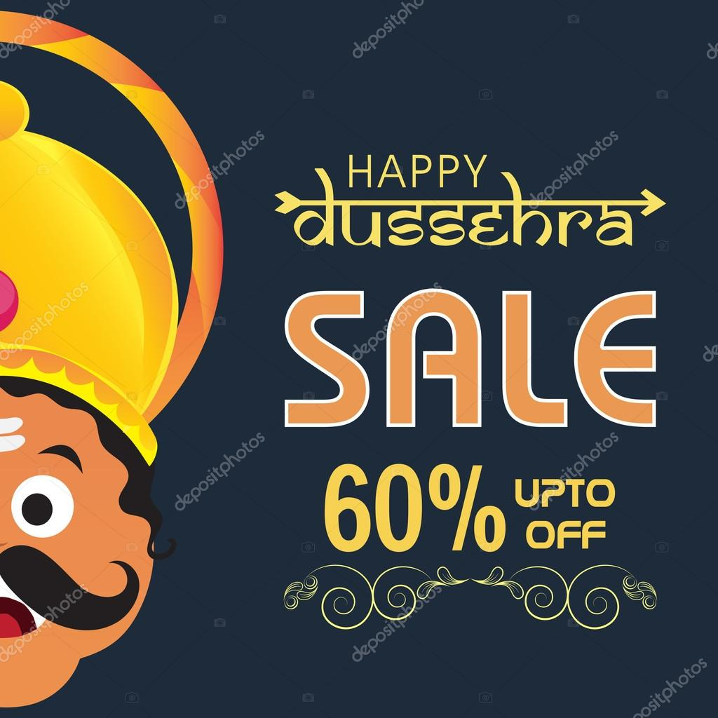 Happy Dussehra Sale Poster, Banner or Flyer.