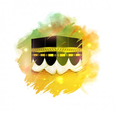Glossy illustration of Kaaba, Mekkah.