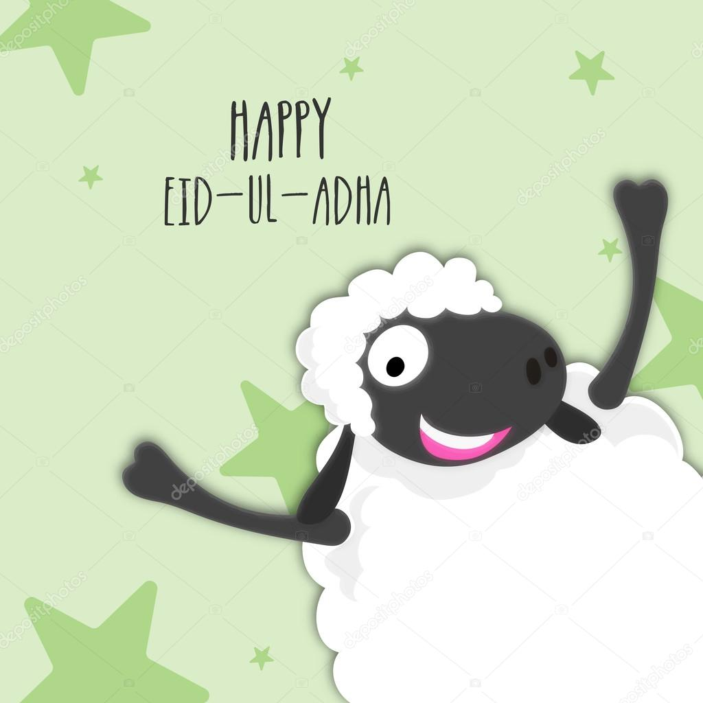 Funny Sheep for Eid-Al-Adha Celebration  — Stock Vector