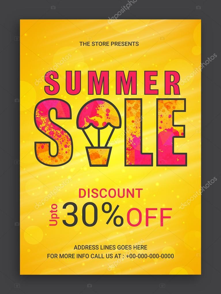 summer sale flyer or banner ストックベクター alliesinteract