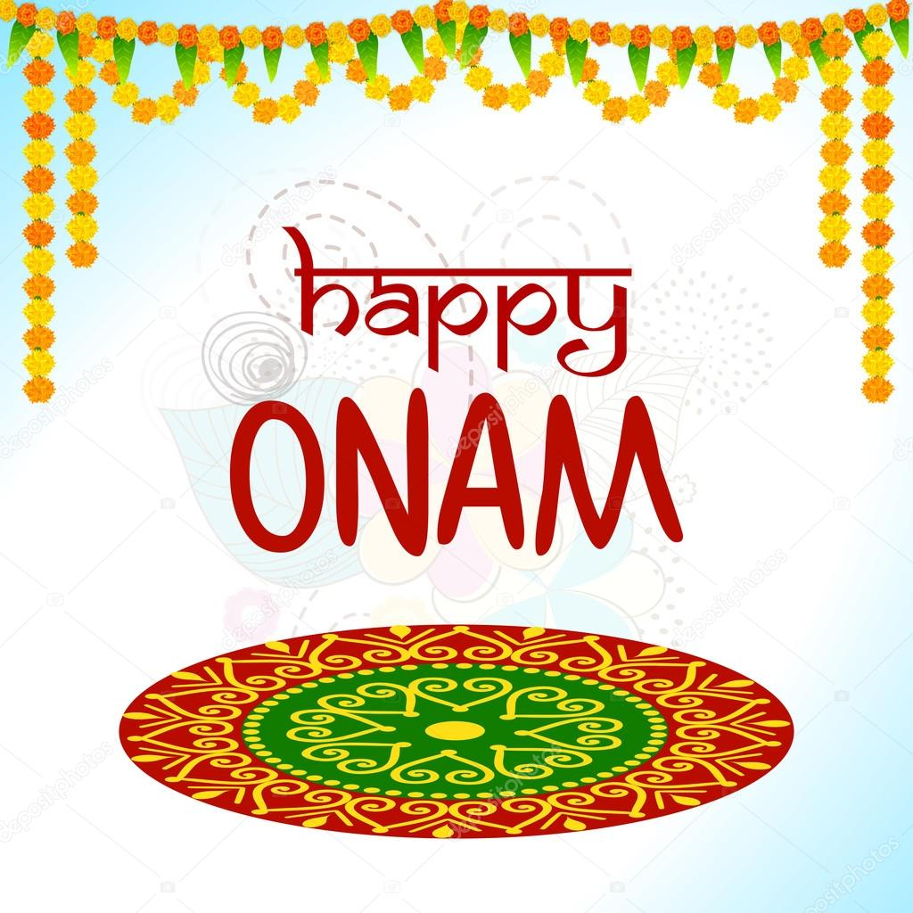 Greeting Card Design For Happy Onam Celebration Archivo Imgenes