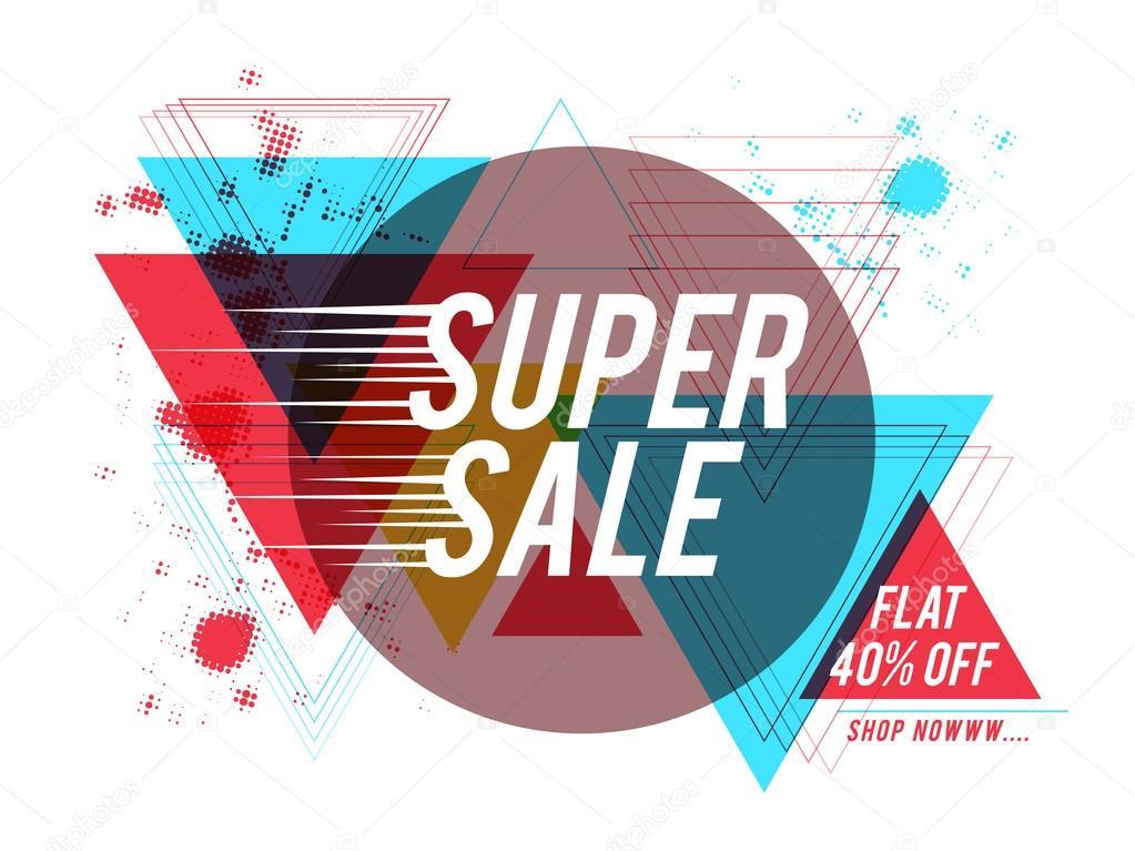 Super Sale Poster, Banner or Flyer design.
