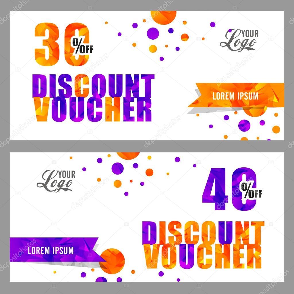 creative discount voucher or coupon design stock vector