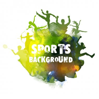 Sports background with different games.