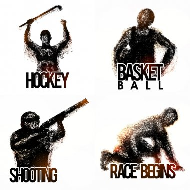 Set of different Sports Players.