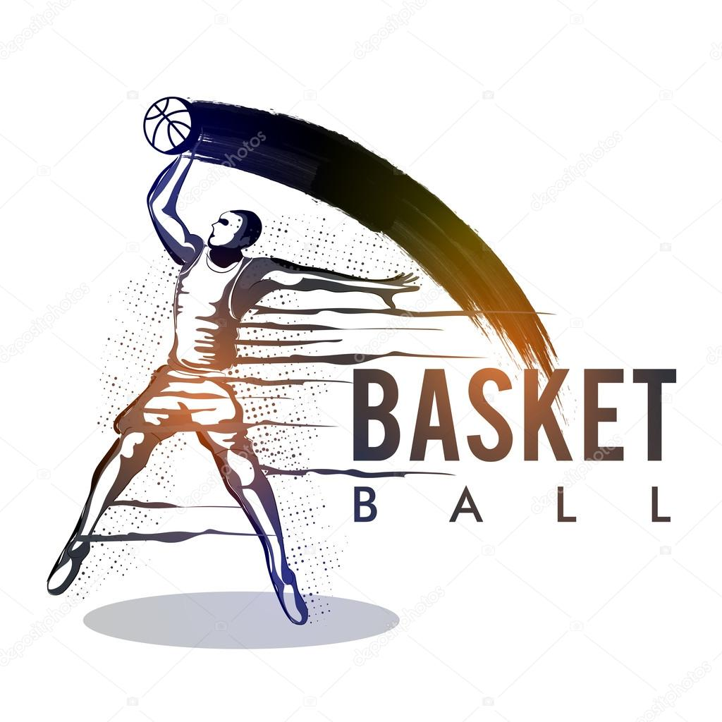basketteur en action pour sports concept  u2014 image