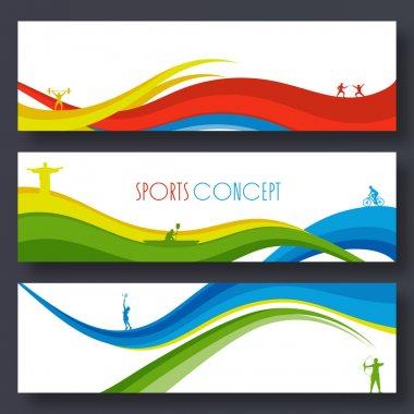 Website Header or Banner for Sports concept.