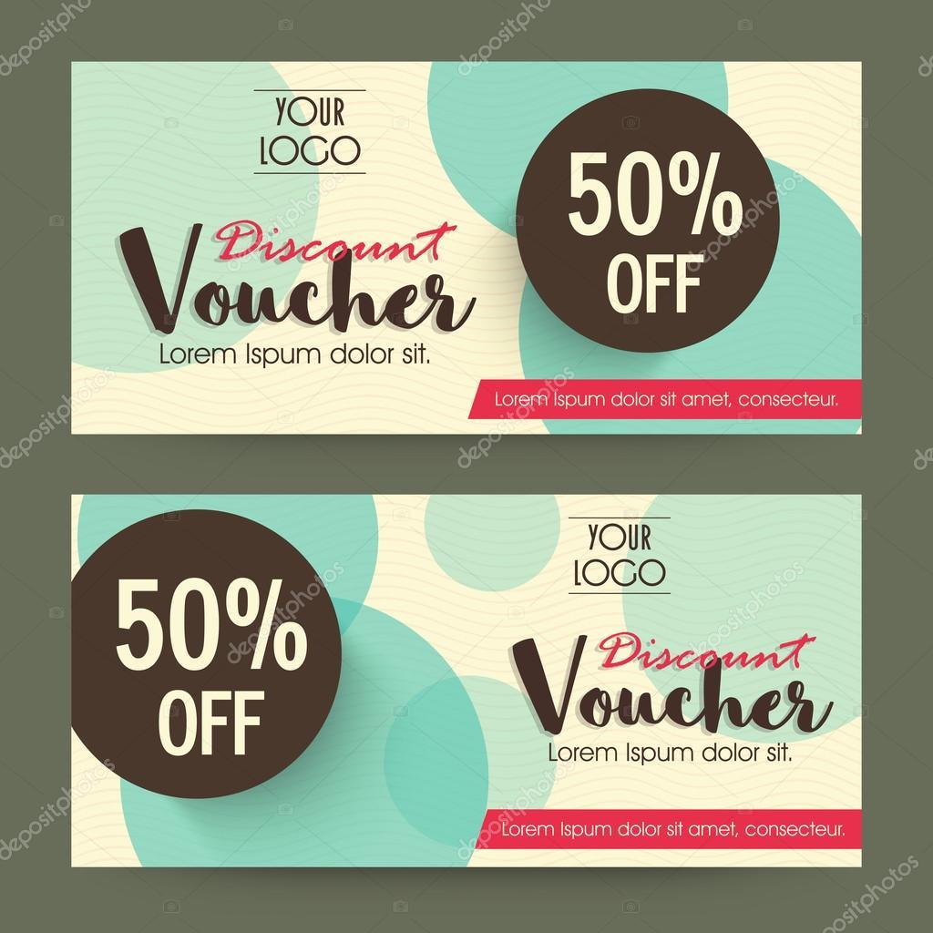 Creative Gift Or Discount Voucher Template Stock Vector
