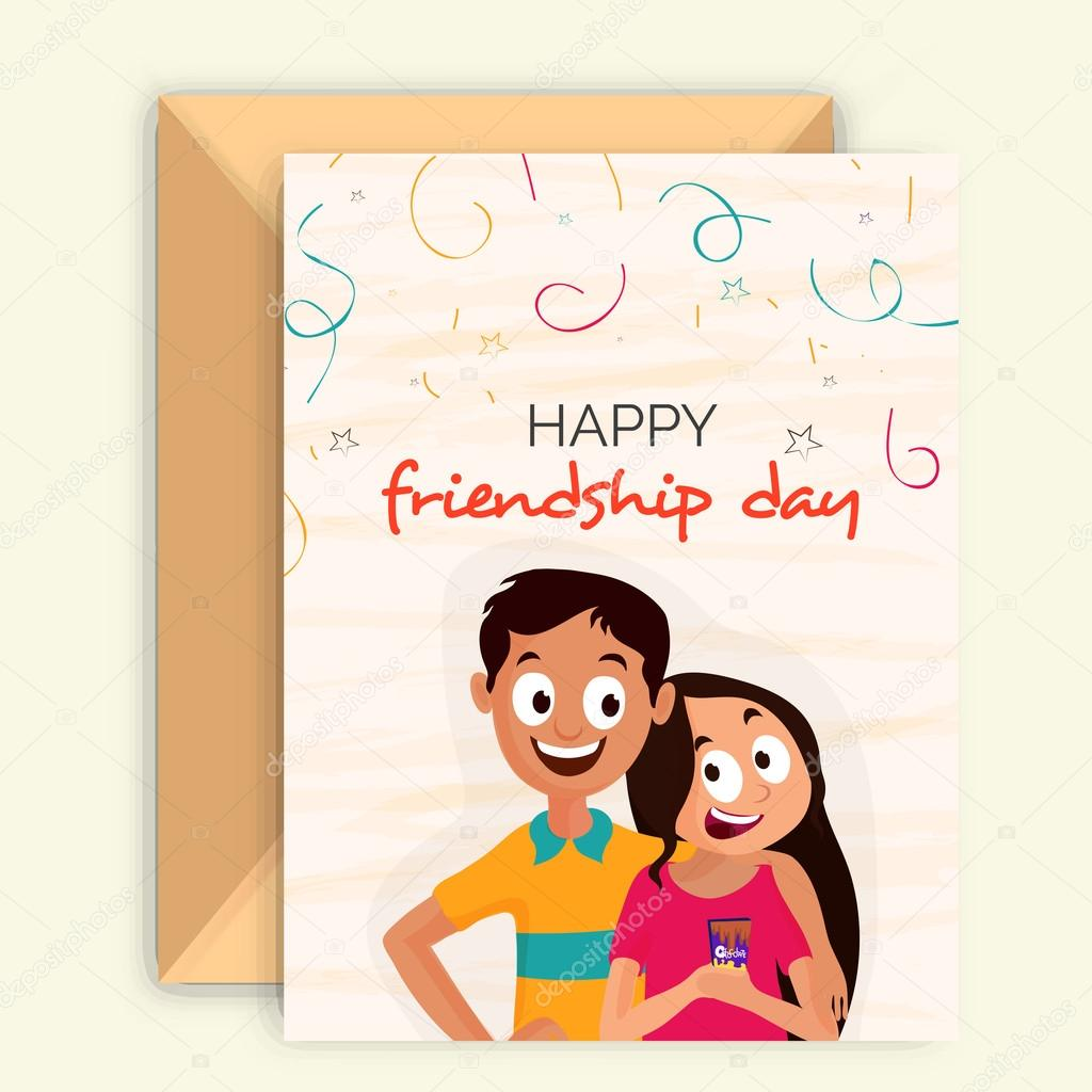 greeting card for friendship day celebration stock vector