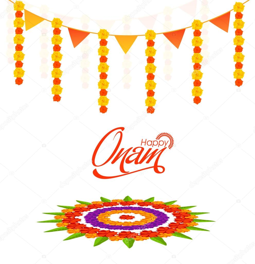 Greeting Card Design For Happy Onam Stock Vector Alliesinteract