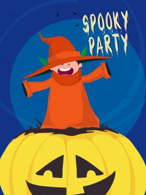 Spooky Halloween Party Template, Banner or Flyer.