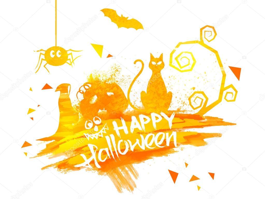 Happy Halloween Poster, Banner or Flyer.