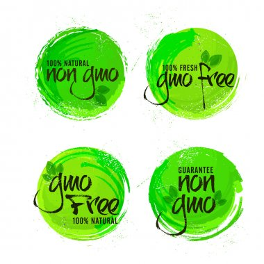Non GMO or GMO Free Stickers set.