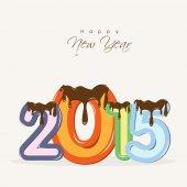 Koncepce slaví šťastný nový rok.