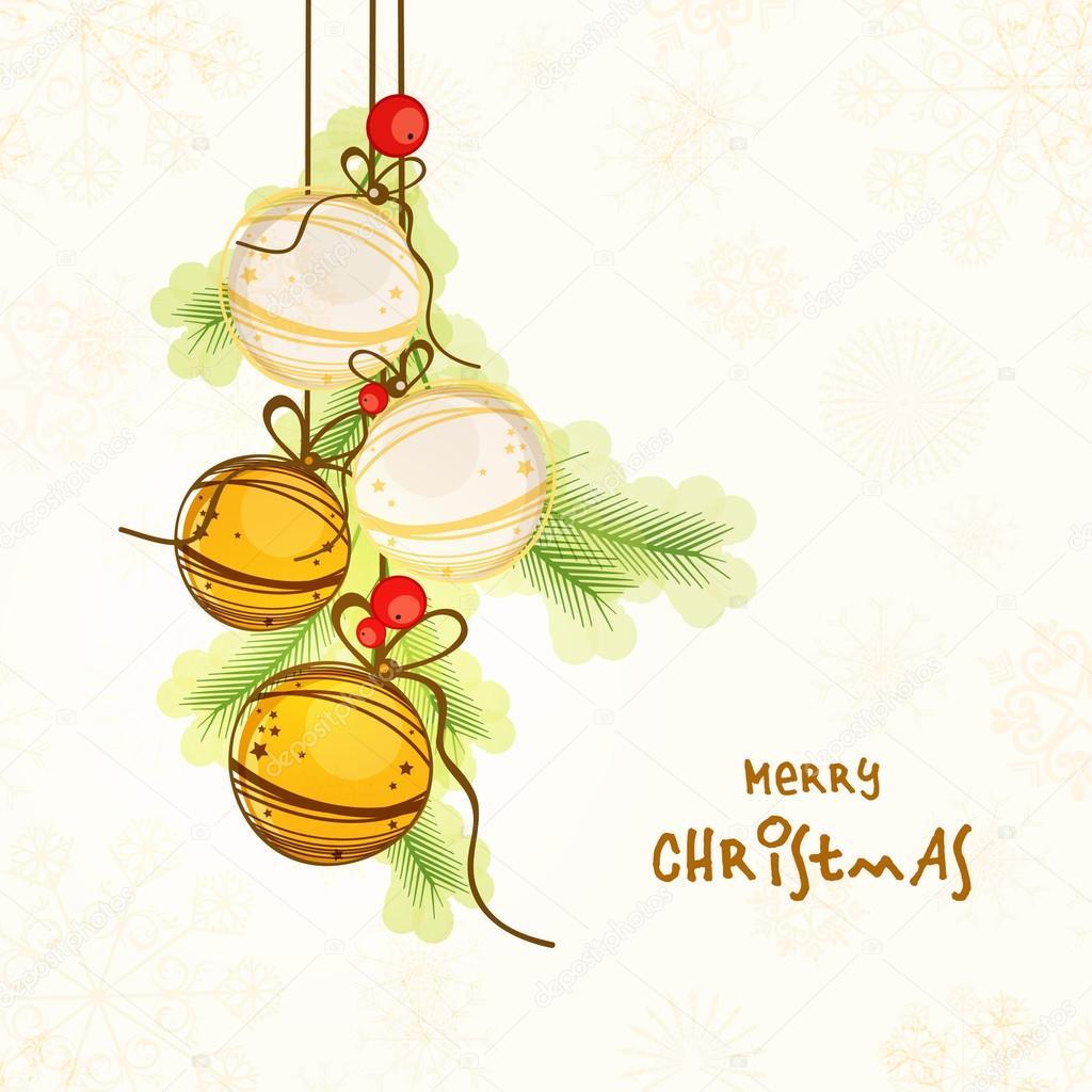 Tarjeta De Felicitación O Invitación Para Navidad Vector