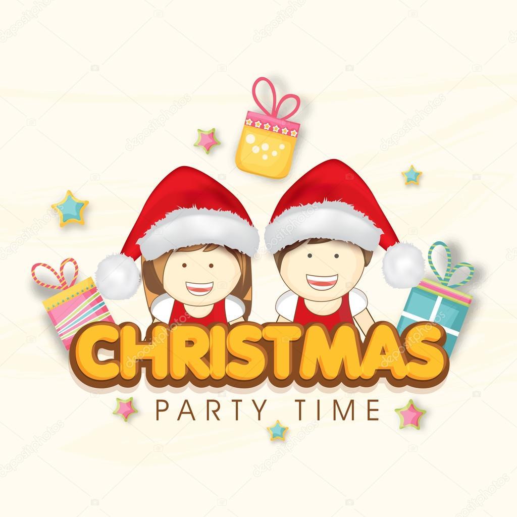 Merry Christmas Party Celebration Invitation Card Design Stock