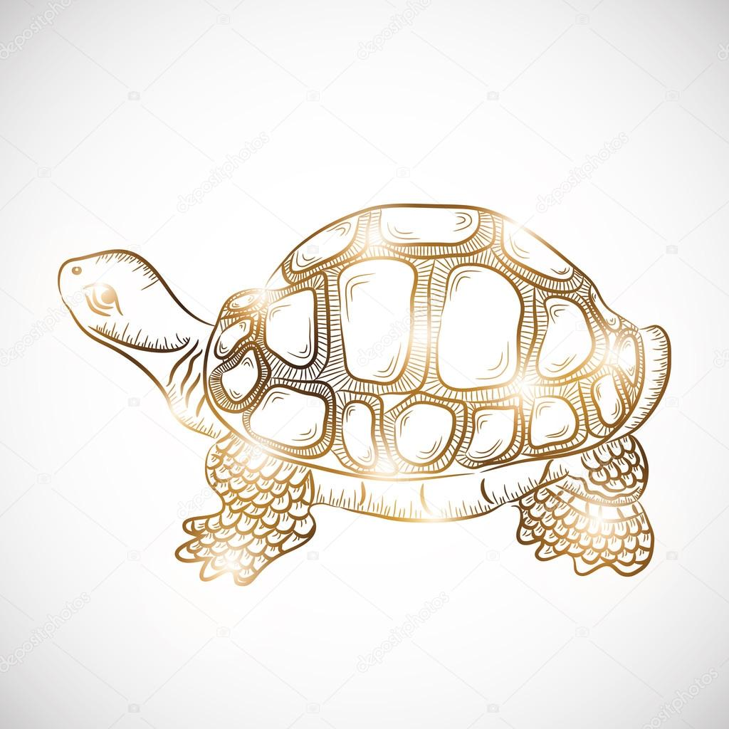 Concept of chinese symbol of wealth stock vector chinese symbol of wealth tortoise in golden color on gradient background vector by alliesinteract buycottarizona Images