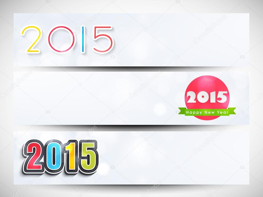 happy new year 2015 celebration banner or website header design with beautiful text vector by alliesinteract