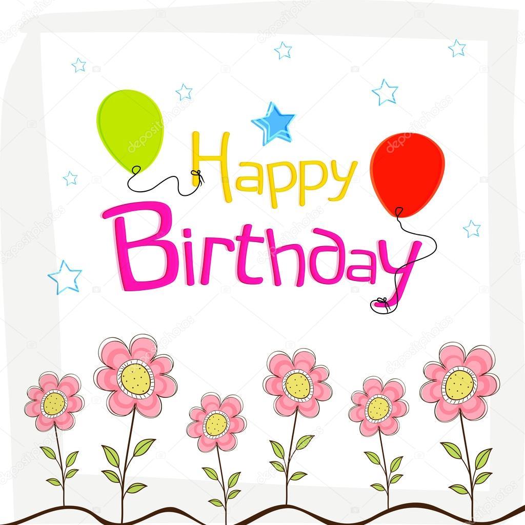 Auguri Di Buon Compleanno Felice Disegno Del Manifesto Con