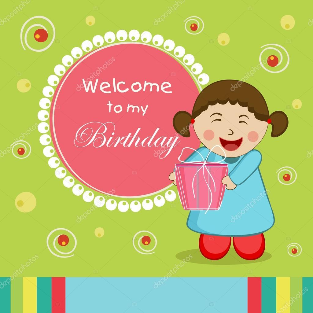 Concept Of Birthday Invitation Card Stock Vector