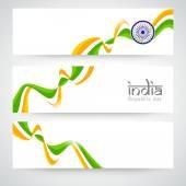 Fotografia Festa della Repubblica indiana celebrazione web intestazione o insieme della bandiera