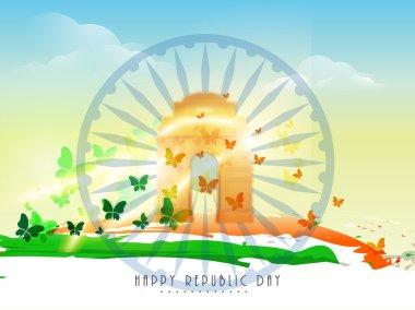 Indian Republic Day celebration concept.