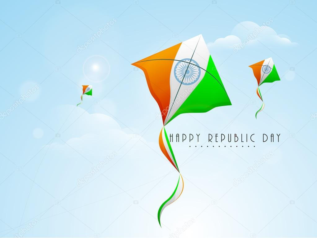 Indian Republic Day celebration concept.