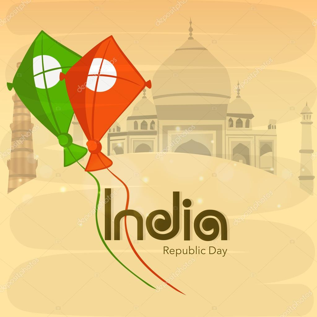 Indian Republic Day celebration concept with kites.