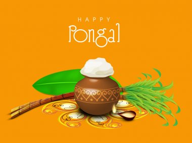 Celebration of South Indian festival, Happy Pongal.