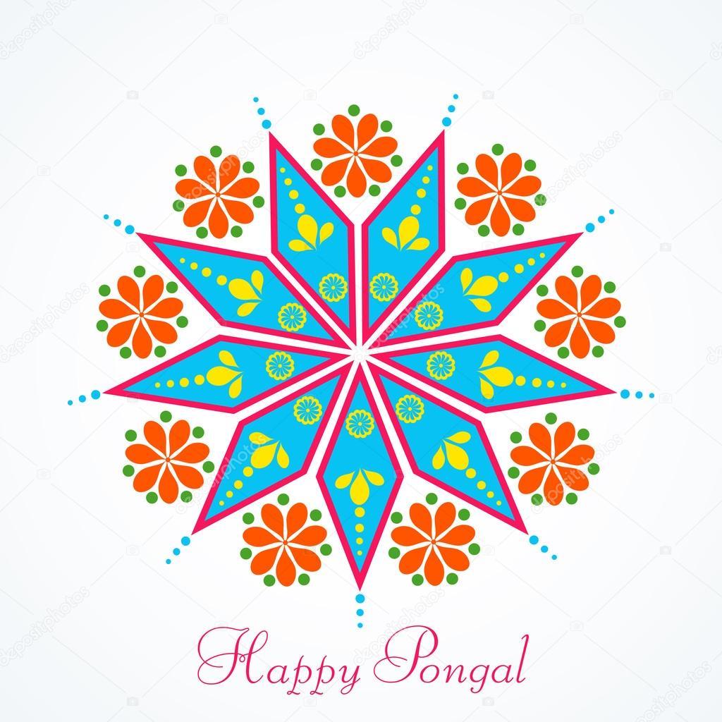 Greeting Card Design For Pongal Festival Celebrations Stock