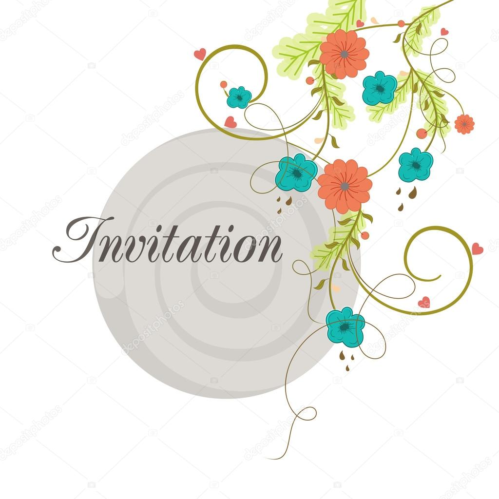 Concept Of Creative Invitation Card Design Stock Vector