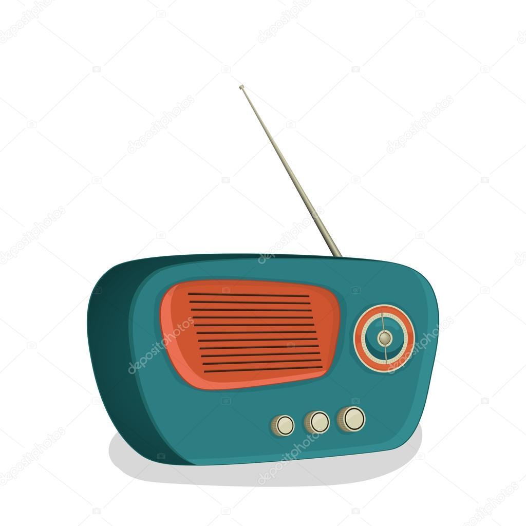 Retro transistor radio design. — Stock Vector © alliesinteract #60186055