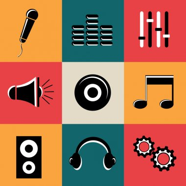 Concept of musical icons.