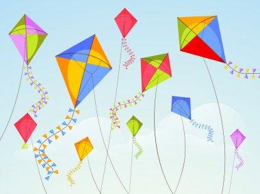Vasant Panchami celebration with flying kites.