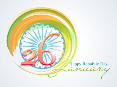 Indian Republic Day celebration with Ashoka Wheel.
