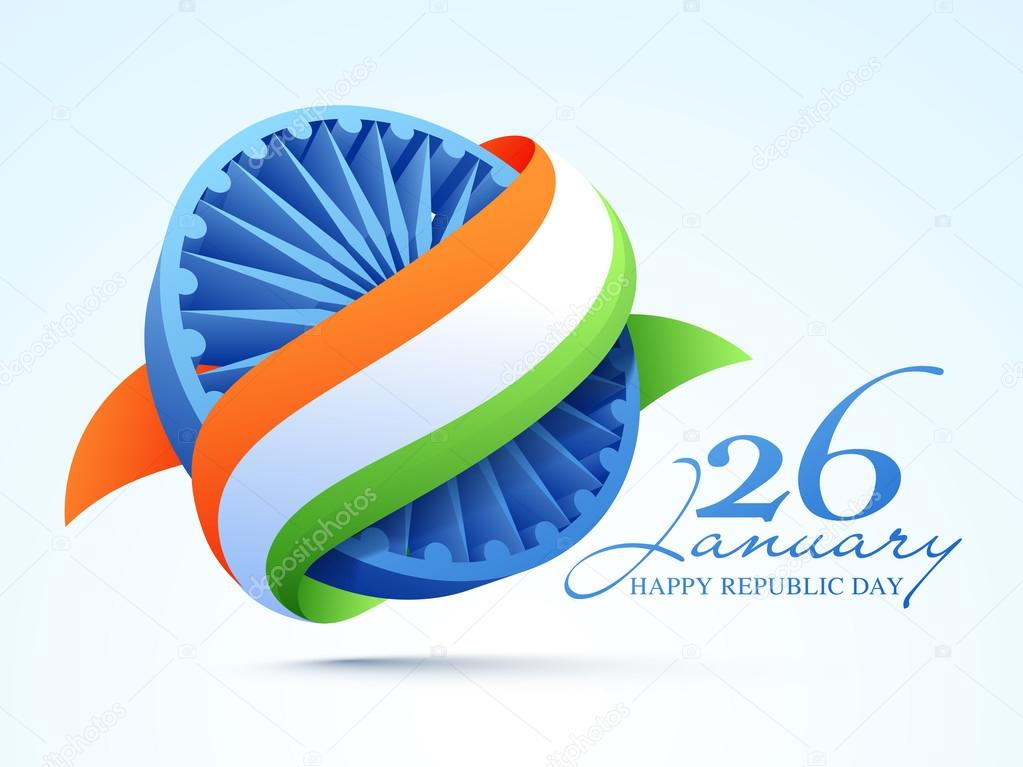 3D Ashoka Wheel for Indian Republic Day celebration.