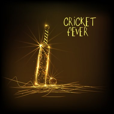 Golden bat and ball for Cricket Fever.
